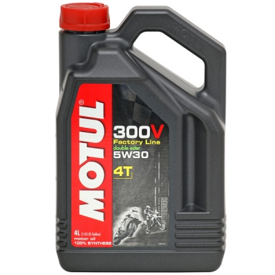 Моторное масло Motul 300V Factory Line Road Racing 5W30 4L