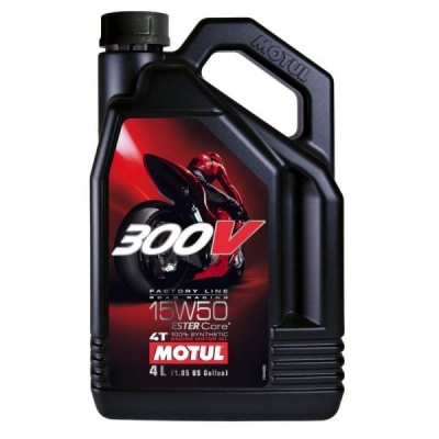 Моторное масло Motul 300V Factory Line Road Racing 15W50 4L